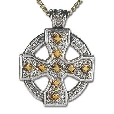 Rune Celtic Cross Pendant Necklace