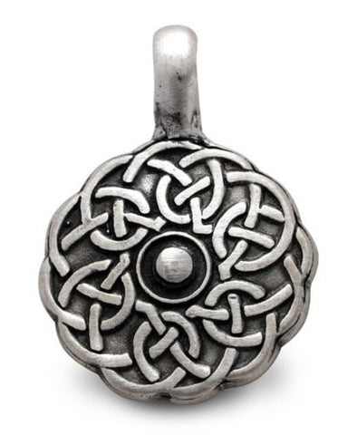 Celtic Shield Pewter Pendant Charm
