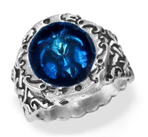Dragonis Celtica Alchemy Gothic Blue Dragon Ring
