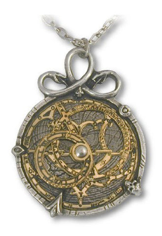 Anguistralobe Alchemy Gothic Steampunk Astrolabe Pendant Necklace