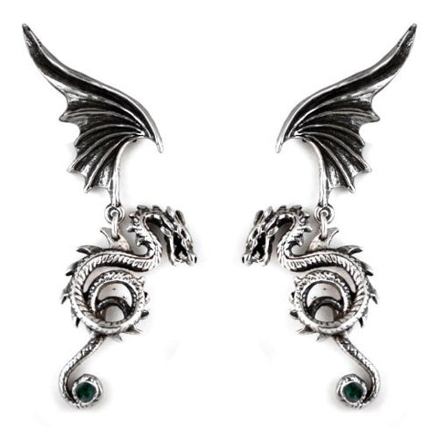 Bestia Regalis Gothic Dragon Earrings
