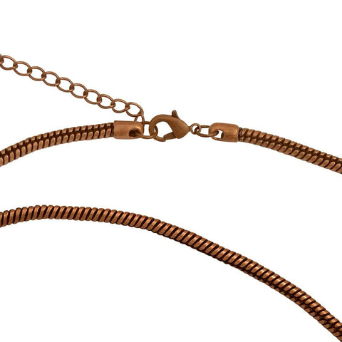 Antique Copper Plated 3.3mm Calypso Snake Chain Necklace with Extra Durable Protective Finish - 18-20 inches