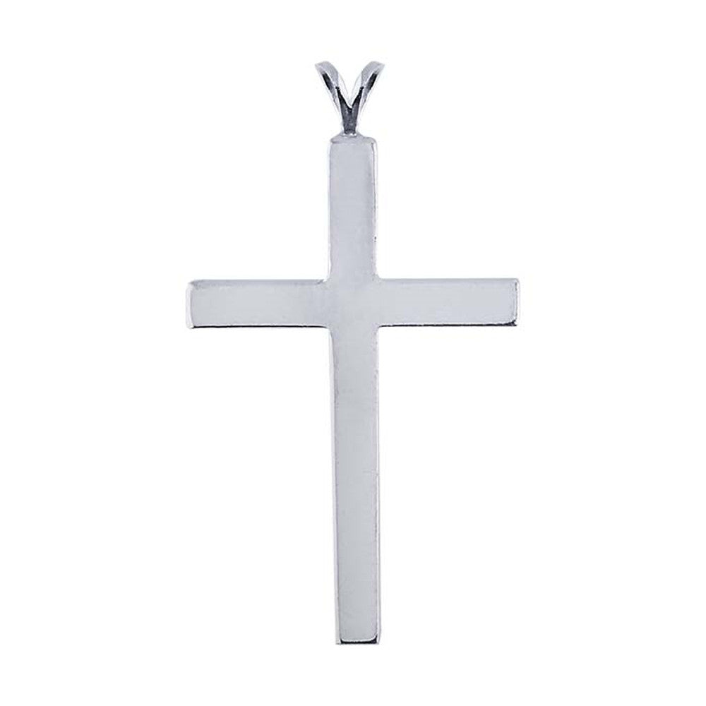 Sterling Silver Simple Flat Cross Pendant