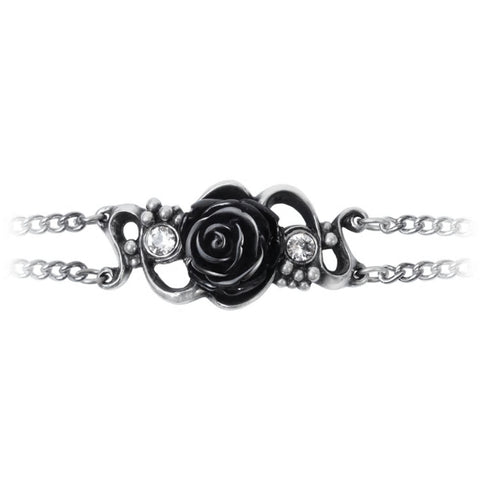 Bacchanaletta Black Rose Bracelet by Alchemy Gothic