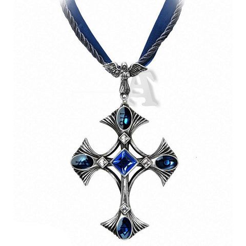 Elementary Crux Alchemy Gothic Cross Necklace