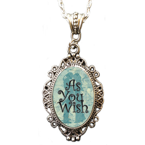 "Alkemie ""As You Wish"" Princess Bride Cameo Pendant Necklace"