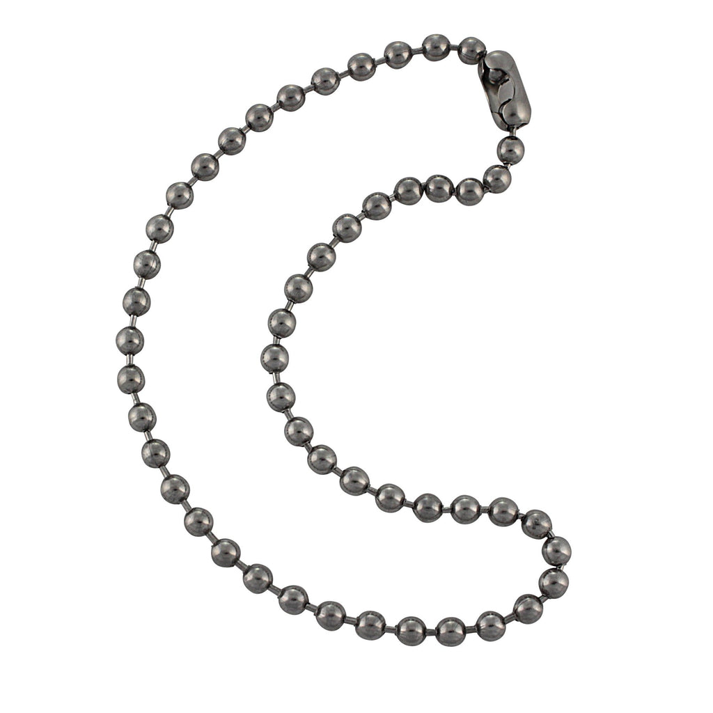 6.3mm Large Stainless Steel Ball Chain Mens Necklace