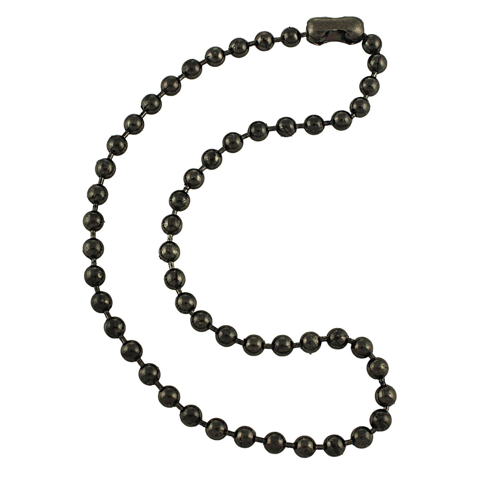 6.3mm Large Gunmetal Steel Ball Chain Mens Necklace