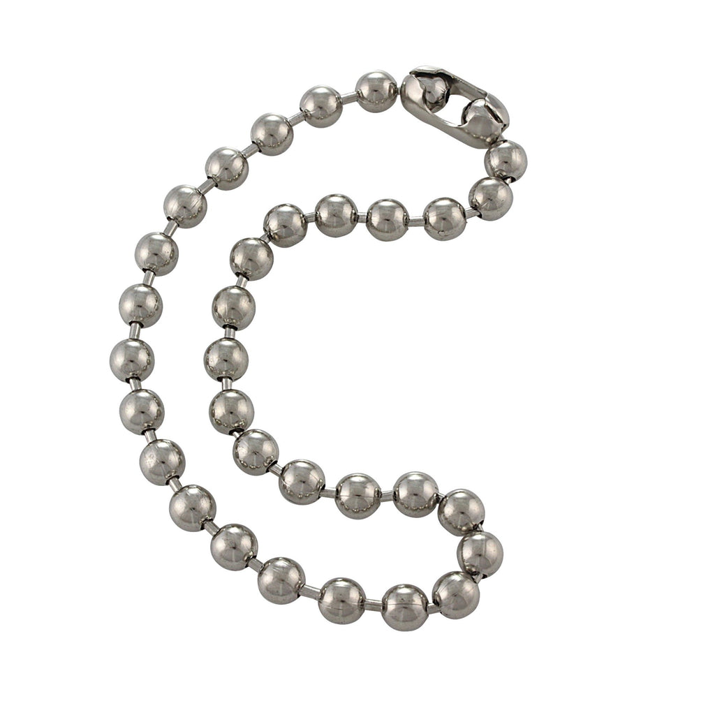 9.5mm Extra Large Steel Ball Chain Mens Necklace