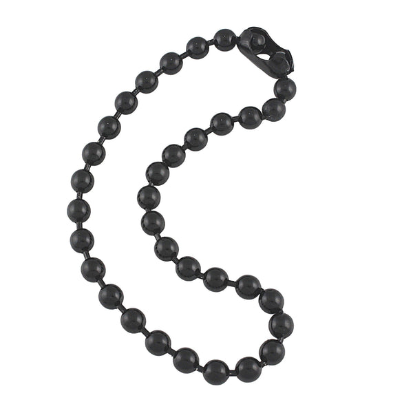 9.5mm Extra Large Gunmetal Steel Ball Chain Mens Necklace