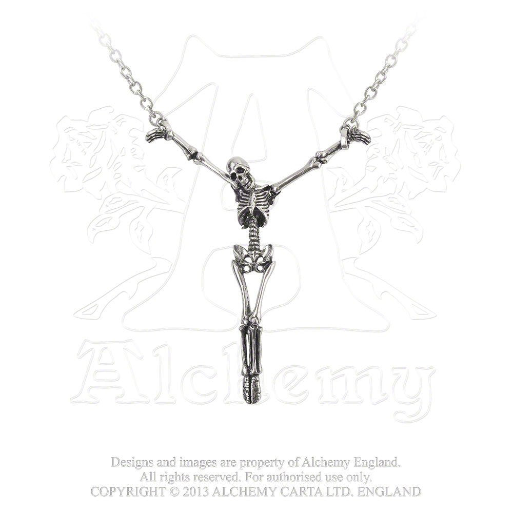 Alter Orbis Skeleton Pendant Necklace by Alchemy Gothic