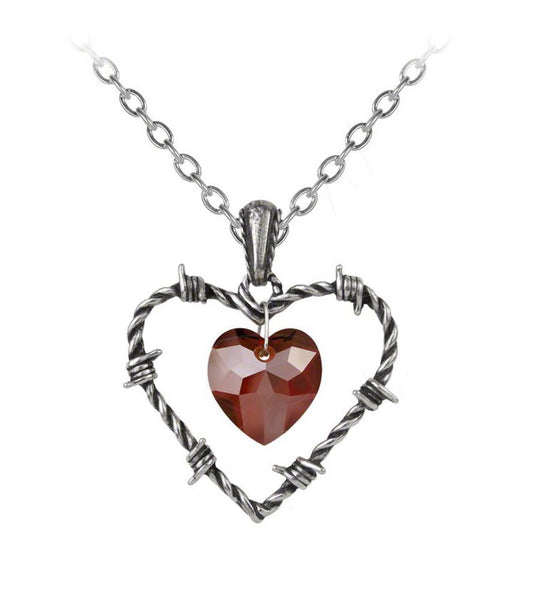 Love Imprisoned Barbed Heart Pendant by Alchemy Gothic