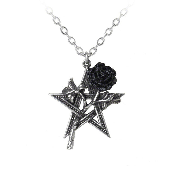 Ruah Vered Rose & Pentagram Necklace by Alchemy Gothic