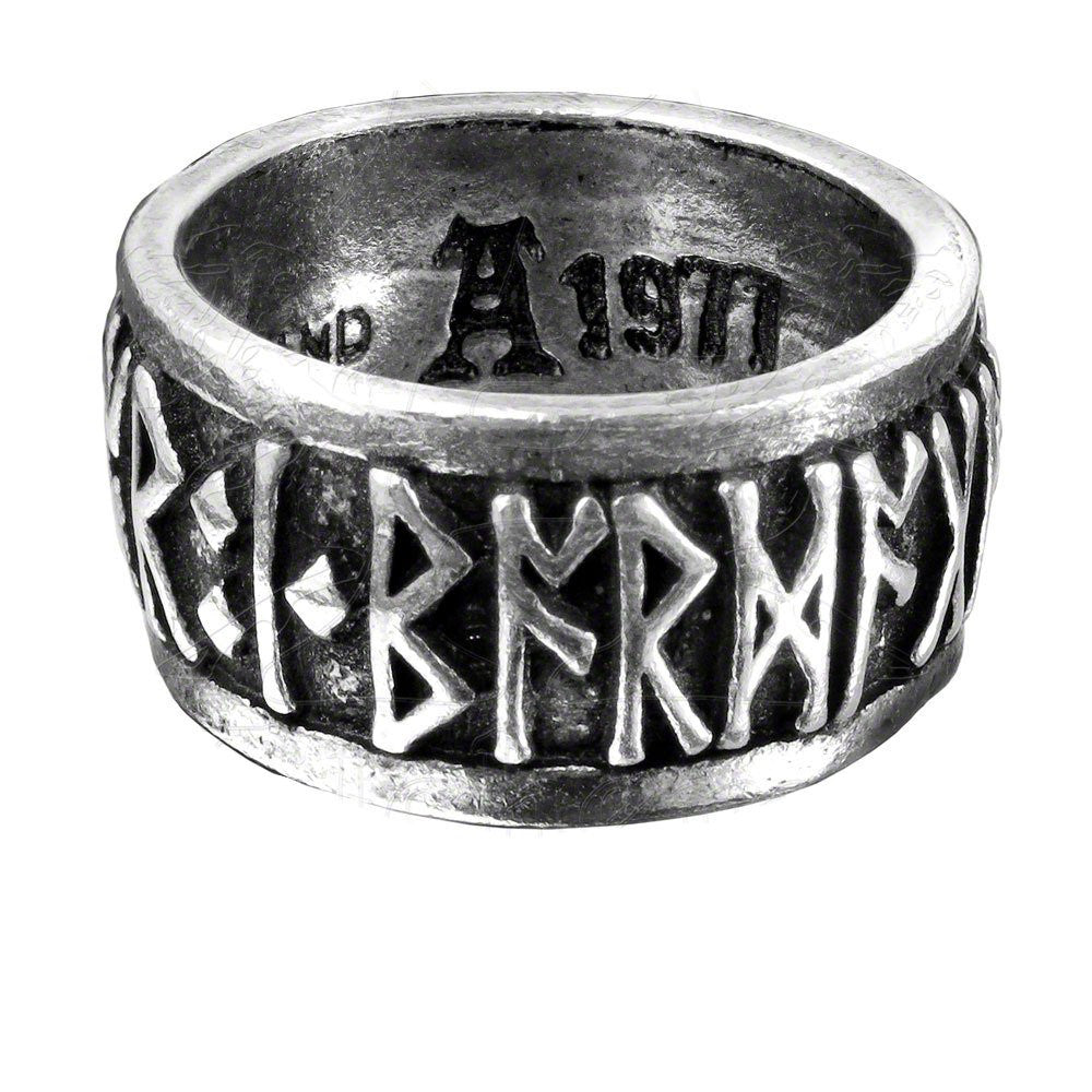 "Runeband Ring Nordic ""Poetry is in Battle""Runes by Alchemy Gothic"