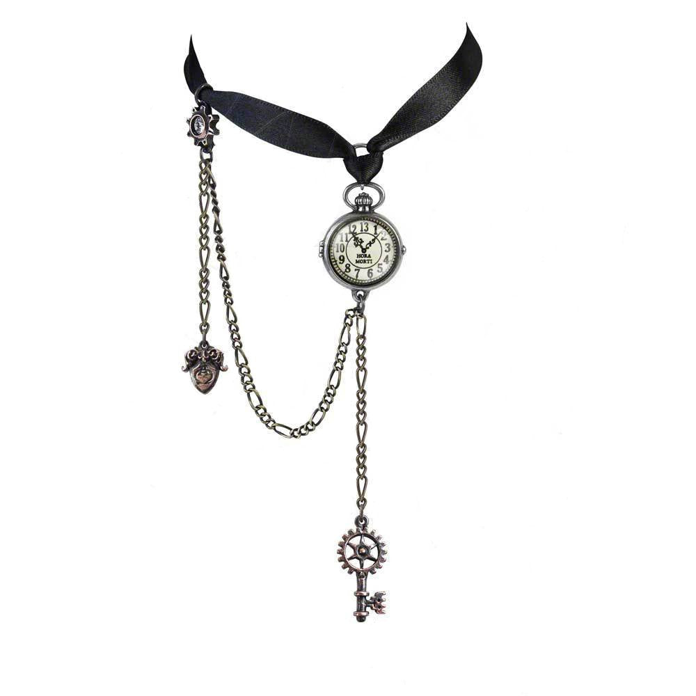 Uncle Albert's Timepiece Choker Steampunk Necklace by Alchemy Gothic