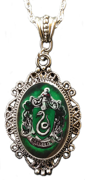 Alkemie Harry Potter Slytherin House Crest Cameo Pendant Necklace