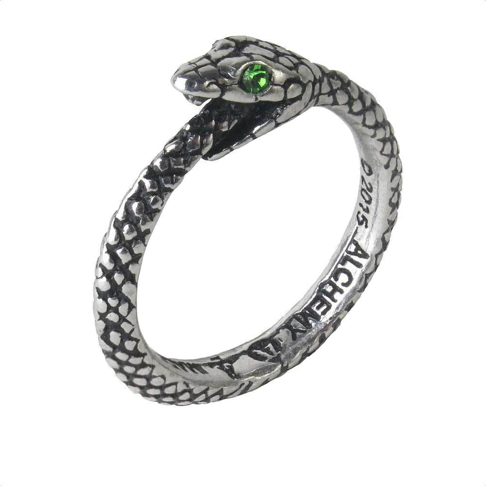 02a14f23c27e5 The Sophia Serpent Ring Ouroboros by Alchemy Gothic