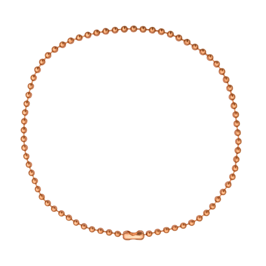 4.5mm Large Bright Copper Ball Chain Mens Necklace