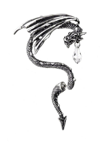 Crystal Dragon Ear Wrap by Alchemy Gothic