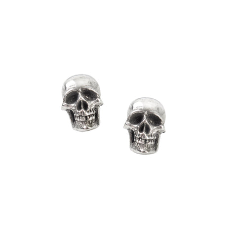 Mortaurium Earrings Skull Ear Studs by Alchemy Gothic