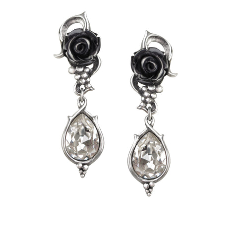 Bacchanal Rose Earrings by Alchemy Gothic