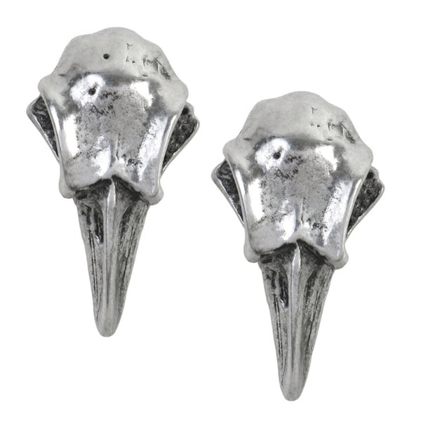 Rabeschadel Raven Skull Earrings by Alchemy Gothic