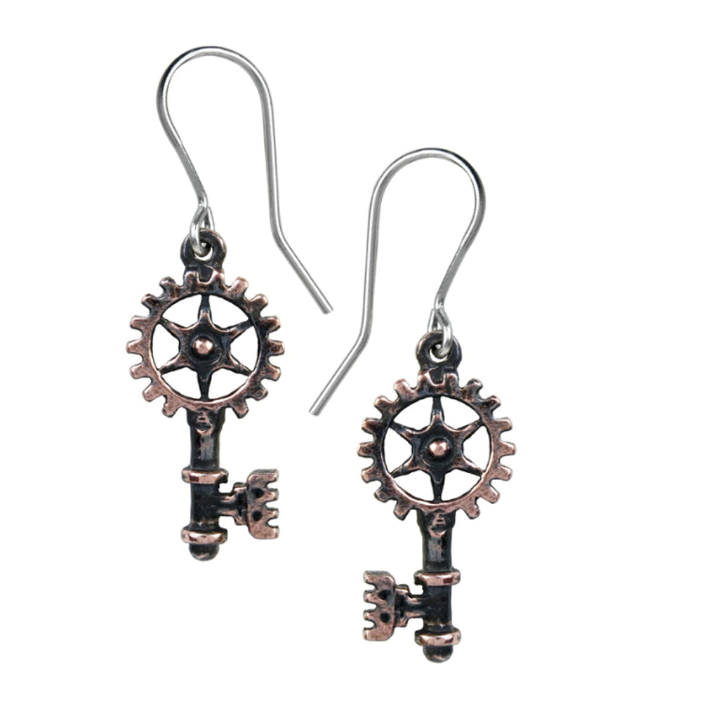 Clavitraction Steampunk Key Earrings by Alchemy Gothic