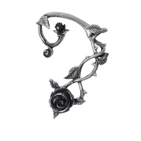 Black Rose Ear Wrap Earring by Alchemy Gothic