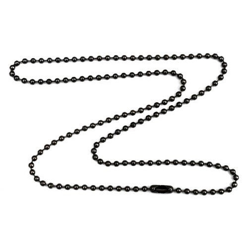 Gunmetal 2.1mm Ball Chain Necklace