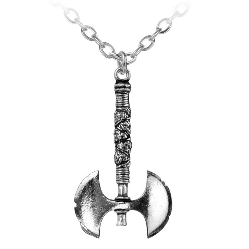 Double Axe Pendant Necklace by Alchemy Gothic