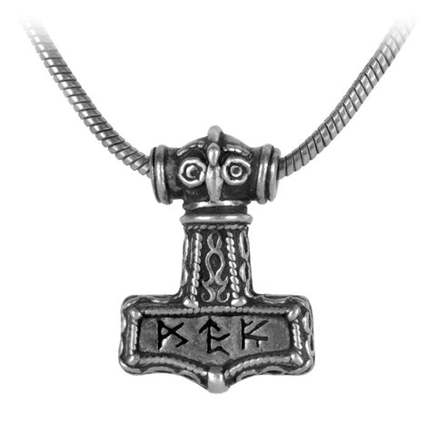 Bindrune Hammer Pendant Necklace by Alchemy Gothic