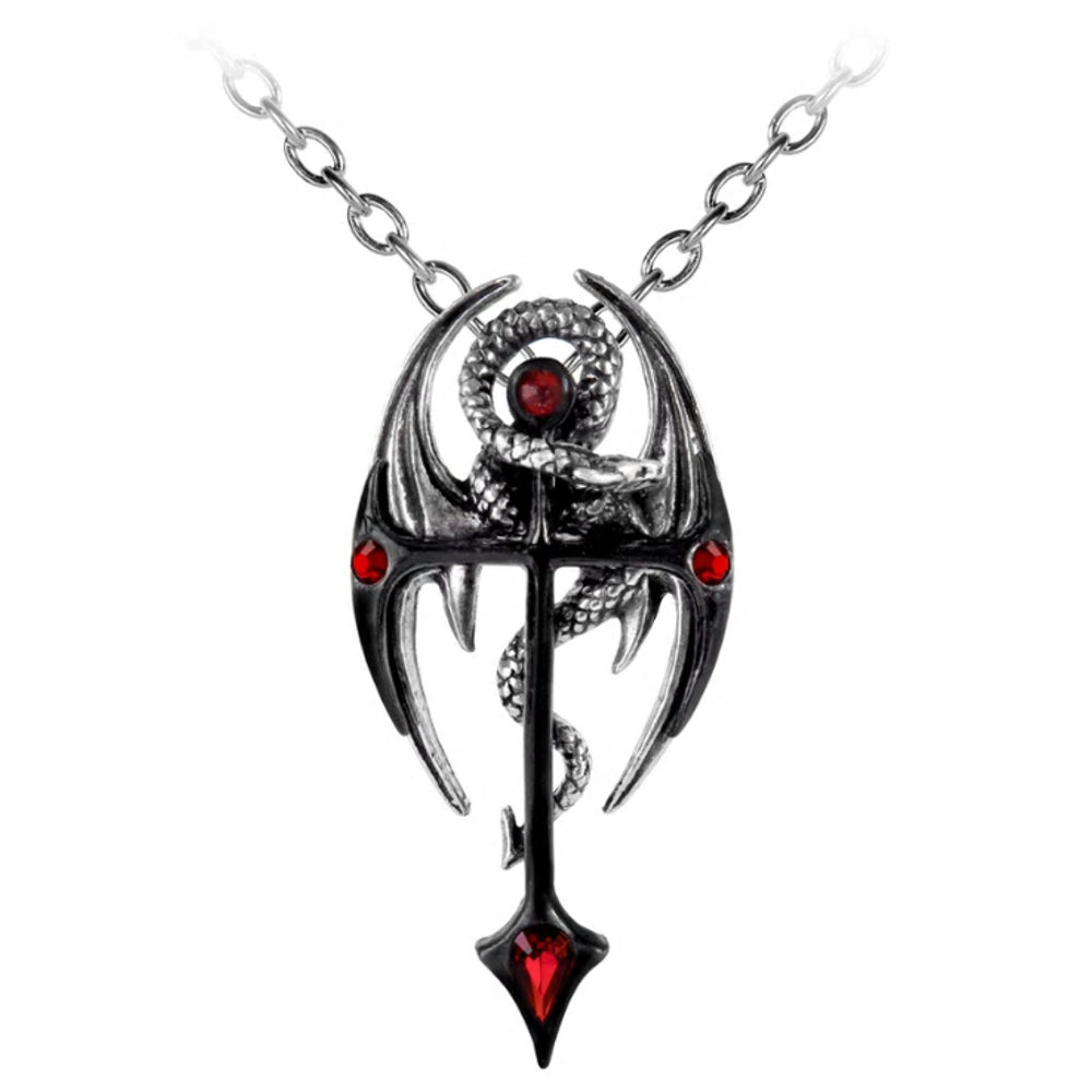 Draconkreuz Pendant Dragon Cross Necklace by Alchemy Gothic