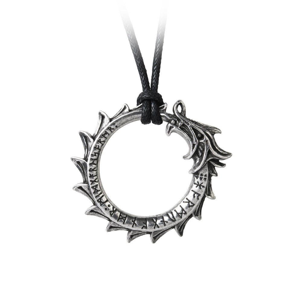 Jormungand Pendant Ouroboros Dragon Alchemy Gothic Necklace