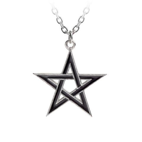 Black Star Pendant Pentagram Alchemy Gothic Necklace
