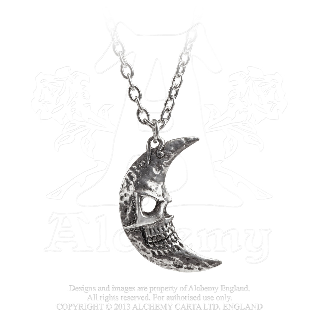 Crescens Tragicom Moon Pendant by Alchemy Gothic