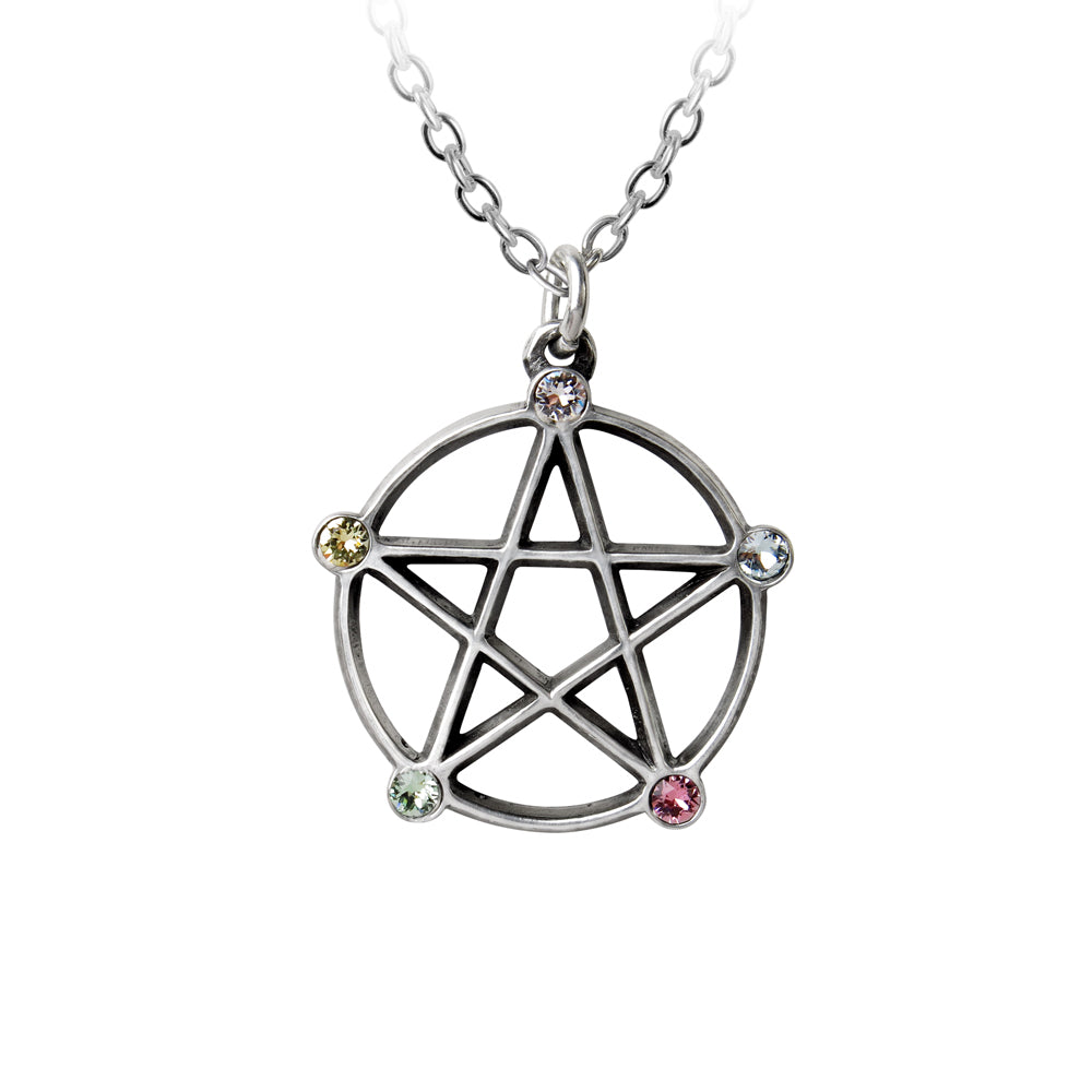 Wiccan Elemental Pentacle Necklace by Alchemy Gothic