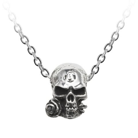 Alchemist Amulet Skull Pendant Necklace by Alchemy Gothic