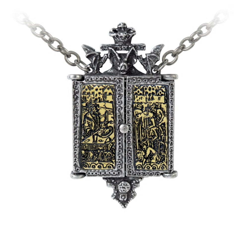 Balkan Triptych Icon Locket Necklace by Alchemy Gothic