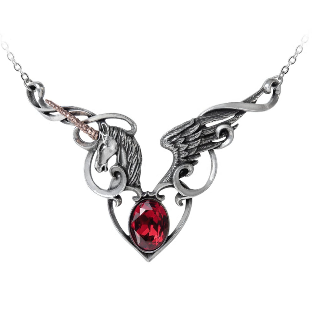 The Maiden's Conquest Unicorn Necklace by Alchemy Gothic