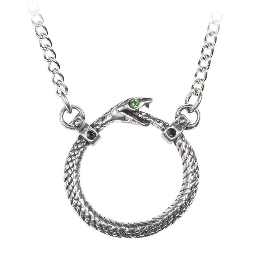 Sophia Serpent Snake Pendant Necklace by Alchemy Gothic