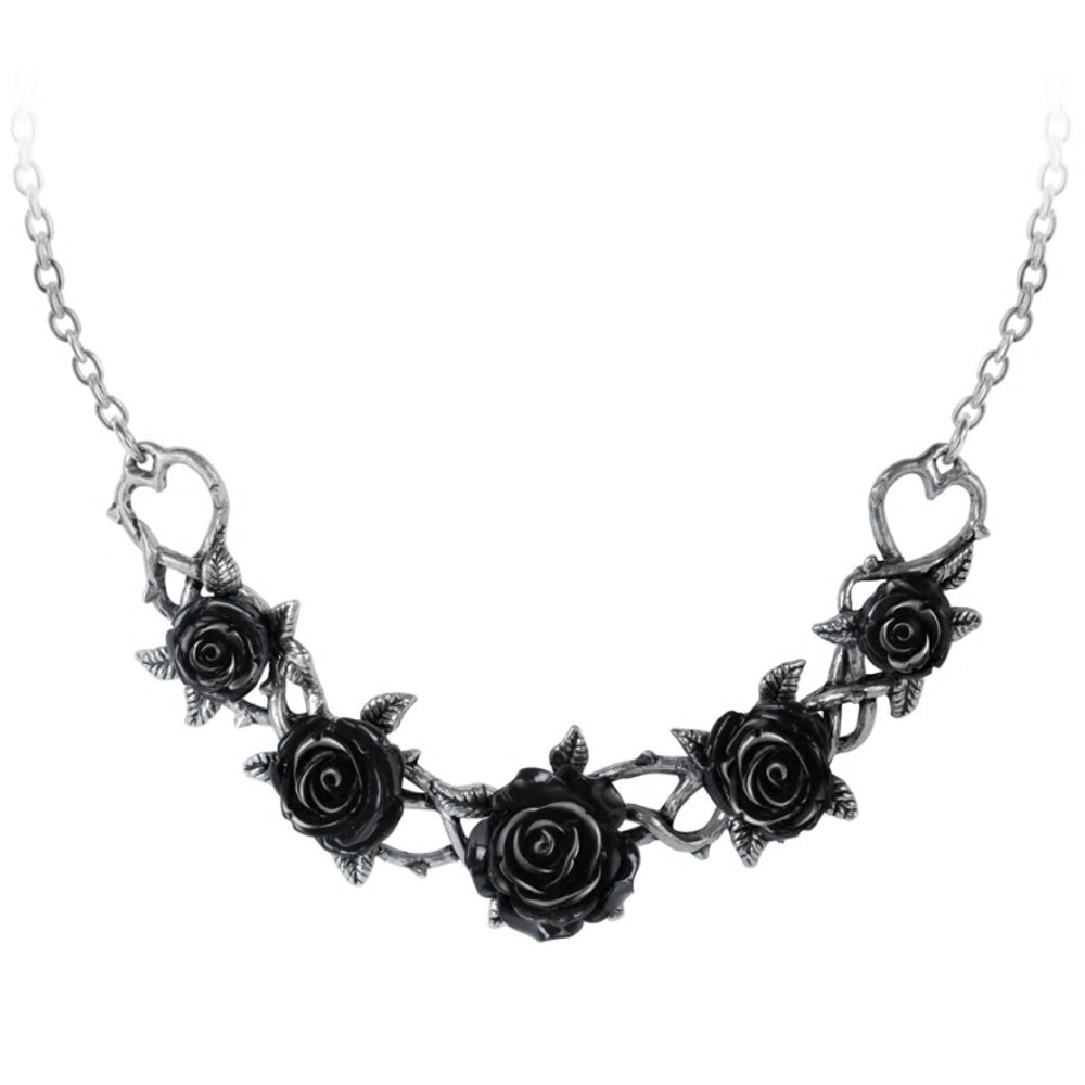 Black Rose Briar Choker Necklace by Alchemy Gothic