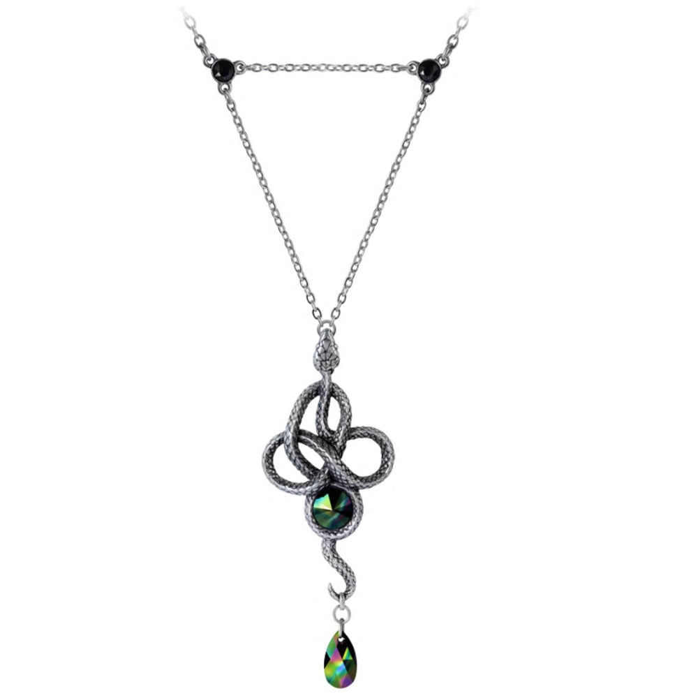 Tercia Serpent Snake Crystal Necklace by Alchemy Gothic
