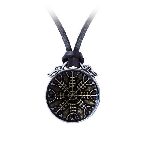 Aegishjalmur Pendant Helm of Awe Norse/Nordic Alchemy Gothic Necklace