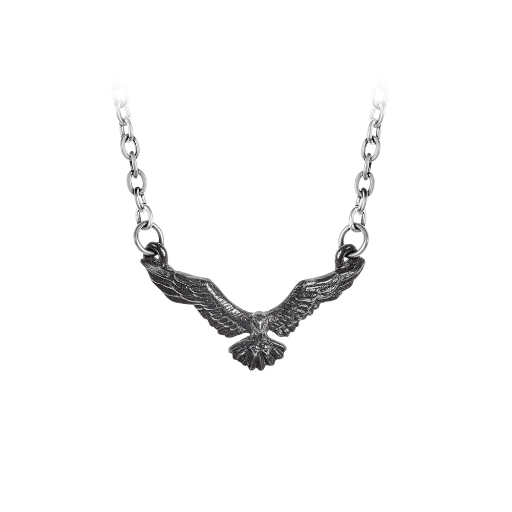 Ravenette Pendant Raven Necklace by Alchemy Gothic