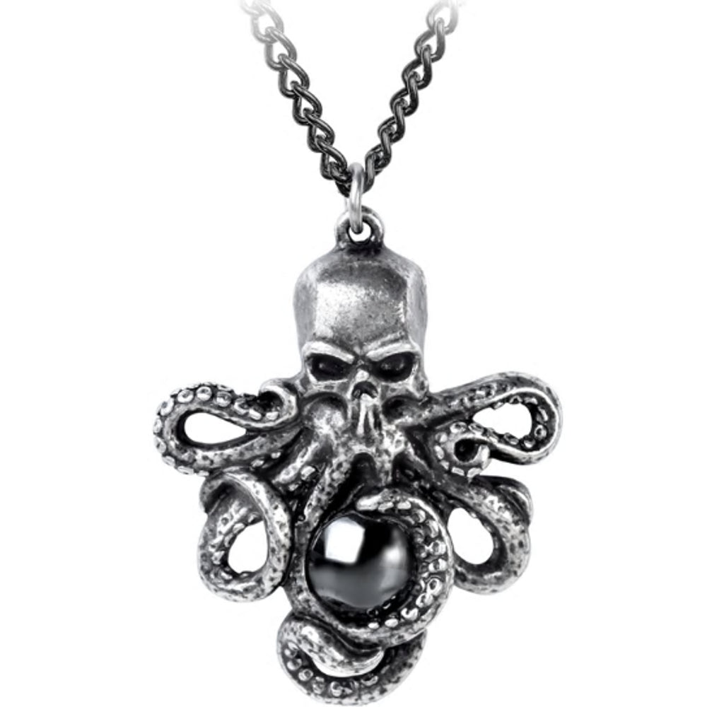 Mammon of the Deep Pendant Octopus Necklace by Alchemy Gothic
