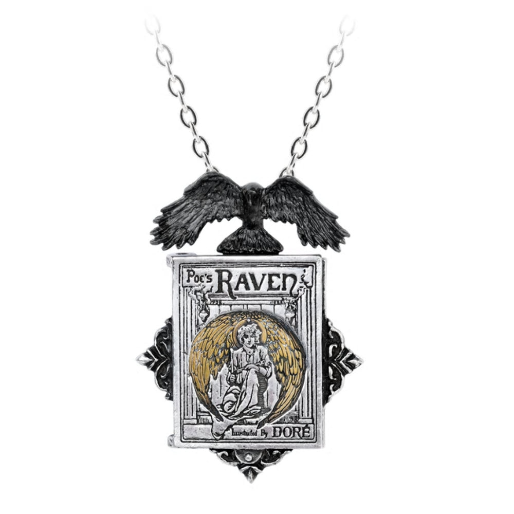 Poe's Raven Locket Necklace by Alchemy Gothic