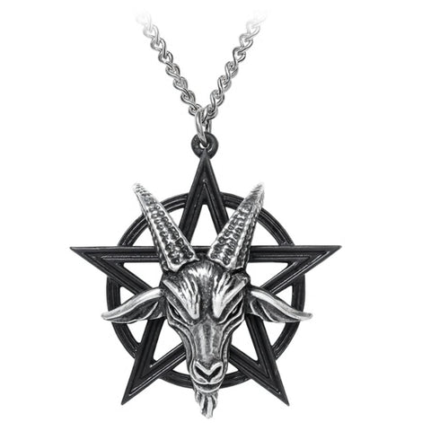 Baphomet Pentagram Pendant Necklace by Alchemy Gothic