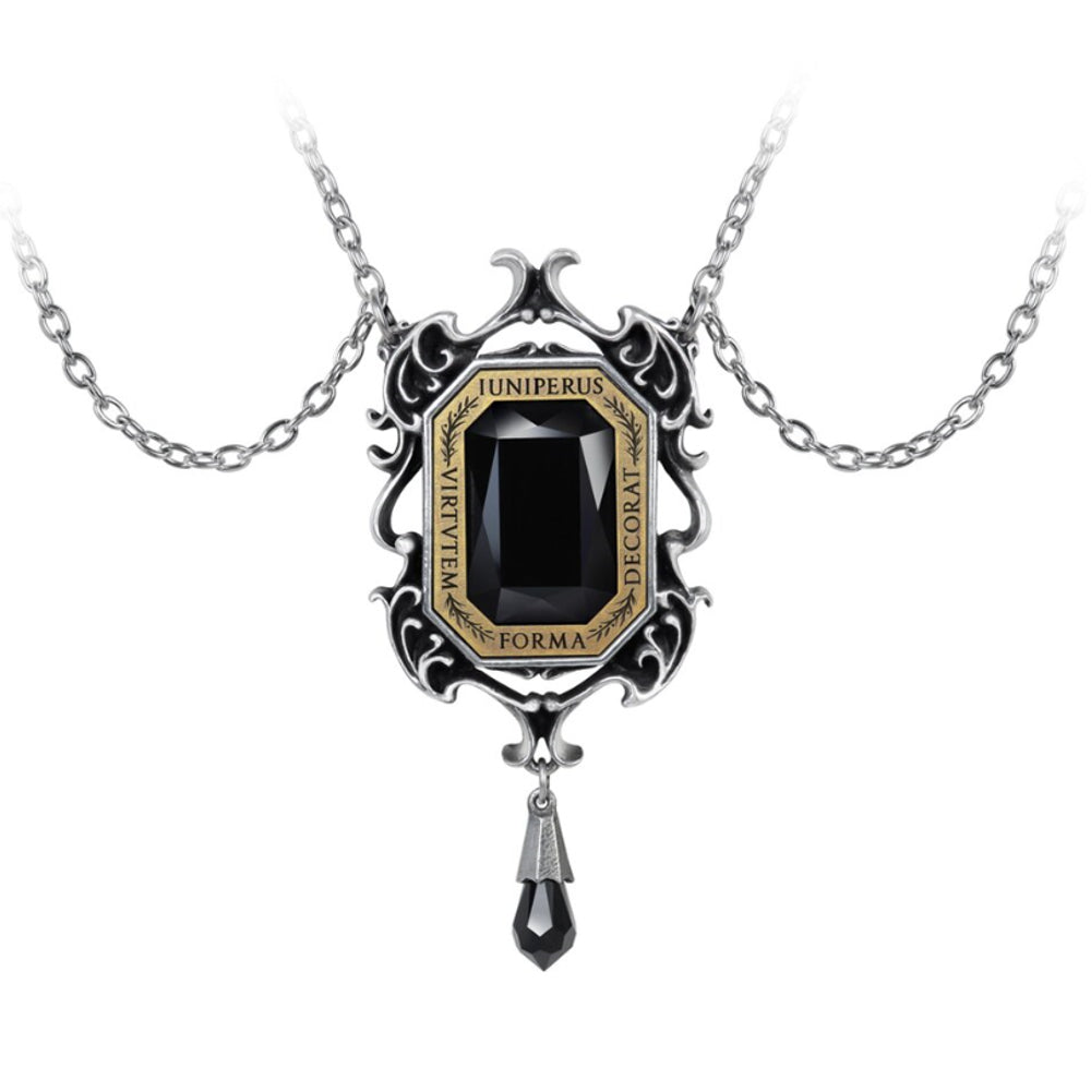 Baroque Beauty Black Crystal Necklace by Alchemy Gothic