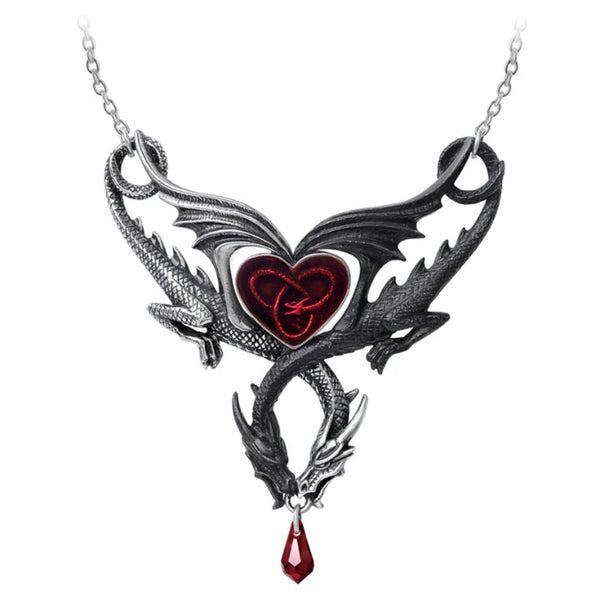 The Confluence of Opposites Dragon Heart Necklace by Alchemy Gothic