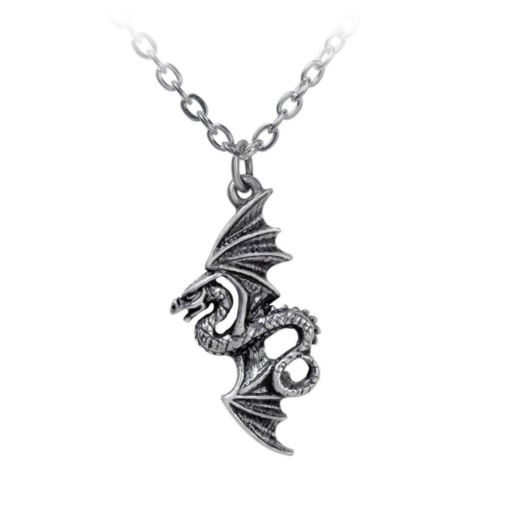 Flight of Airus Dragon Pendant Necklace by Alchemy Gothic